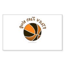 Black/Orange Basketball Decal
