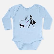 Rat Terrier Long Sleeve Infant Bodysuit