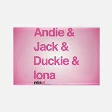 Pretty in Pink: Character Names Rectangle Magnet