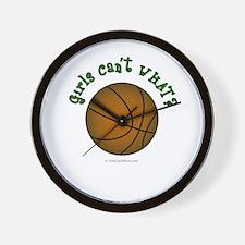 Brown/Green Basketball Wall Clock