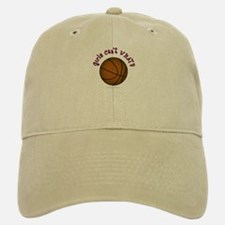Brown/Pink Basketball Baseball Baseball Cap