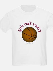 Brown/Pink Basketball T-Shirt
