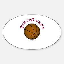 Brown/Pink Basketball Decal