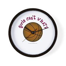 Brown/Pink Basketball Wall Clock