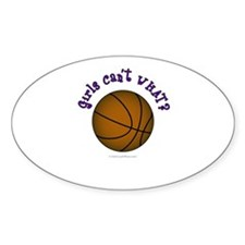 Brown/Purple Basketball Decal