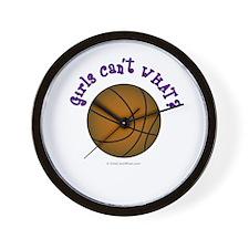 Brown/Purple Basketball Wall Clock