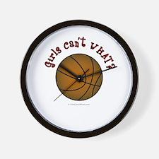 Brown/Red Basketball Wall Clock