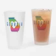 Georgia Heart Rainbow Drinking Glass