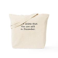 Don't Delete That Tote Bag