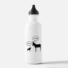 Schipperke Sports Water Bottle