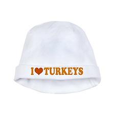 I Heart Turkeys Thanksgiving Baby Hat