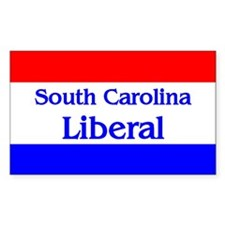 South Carolina Liberal Rectangle Decal