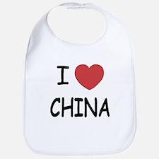 I heart china Bib