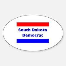 South Dakota Democrat Oval Decal
