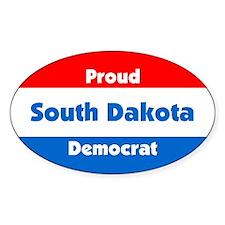 Proud South Dakota Democrat Oval Decal