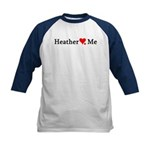 Heather Loves Me Kids Baseball Jersey