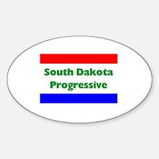 South Dakota Progressive Oval Decal