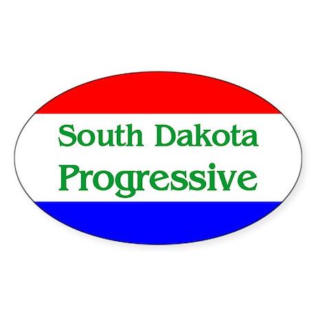 South Dakota Progressive Oval Sticker