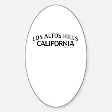 Los Altos Hills Sticker (Oval)