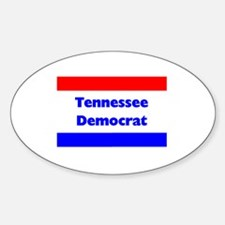 Tennessee Democrat Oval Decal