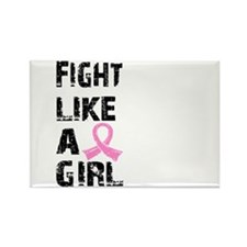 Licensed Fight Like a Girl 21.8 Rectangle Magnet