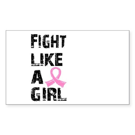 Licensed Fight Like a Girl 21. Sticker (Rectangle)