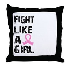 Licensed Fight Like a Girl 21.8 Throw Pillow
