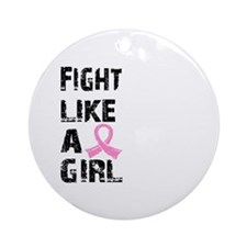 Licensed Fight Like a Girl 21.8 Ornament (Round)
