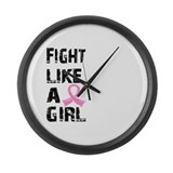 Fight like a girl Giant Clocks