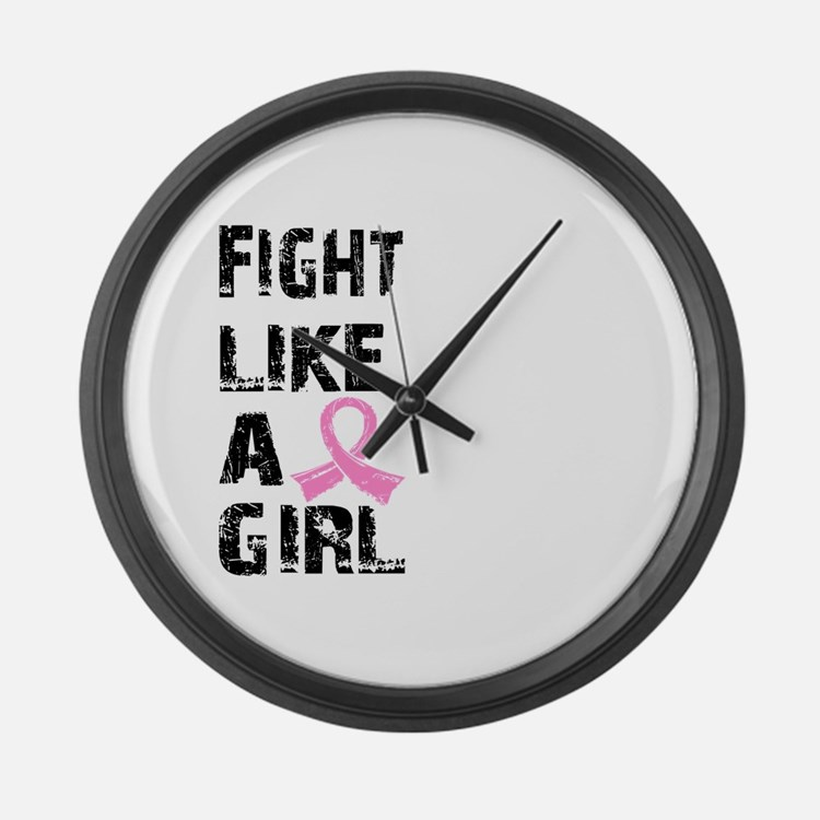 Licensed Fight Like a Girl 21.8 Large Wall Clock