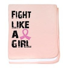 Licensed Fight Like a Girl 21.8 baby blanket