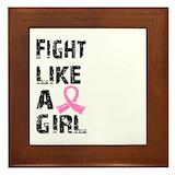Fight like a girl Framed Tiles