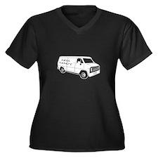 Free Candy Women's Plus Size V-Neck Dark T-Shirt