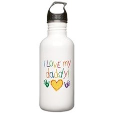 i love my daddy Water Bottle