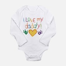 i love my daddy Long Sleeve Infant Bodysuit