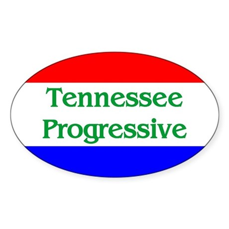 Tennessee Progressive Oval Sticker