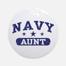 Navy Aunt Ornament (Round)