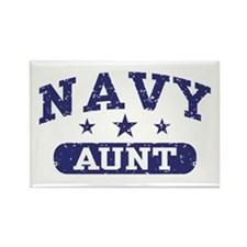 Navy Aunt Rectangle Magnet