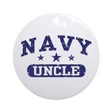 Navy Uncle Ornament (Round)