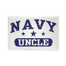 Navy Uncle Rectangle Magnet