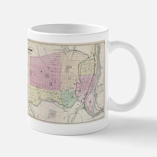 Vintage Map of Allentown Pennsylvania (1872) Mugs