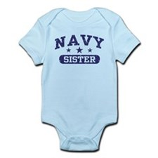 Navy Sister Infant Bodysuit