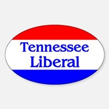 Tennessee Liberal Oval Decal