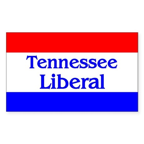 Tennessee Liberal Rectangle Sticker