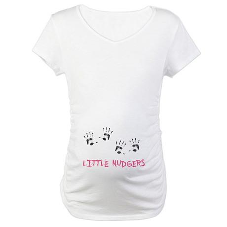 2 Lil Nudgers Maternity T-Shirt
