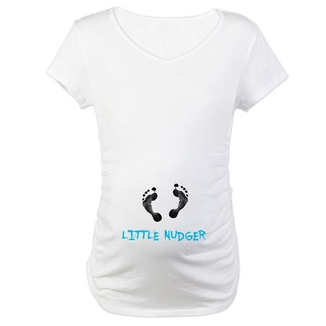 Footprint Nudger Maternity T-Shirt