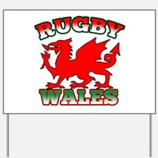 Rugby Wales Flag Yard Sign