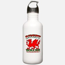 Rugby Wales Flag Water Bottle