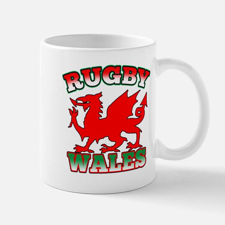 Rugby Wales Flag Mug