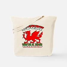 Rugby Wales Flag Tote Bag